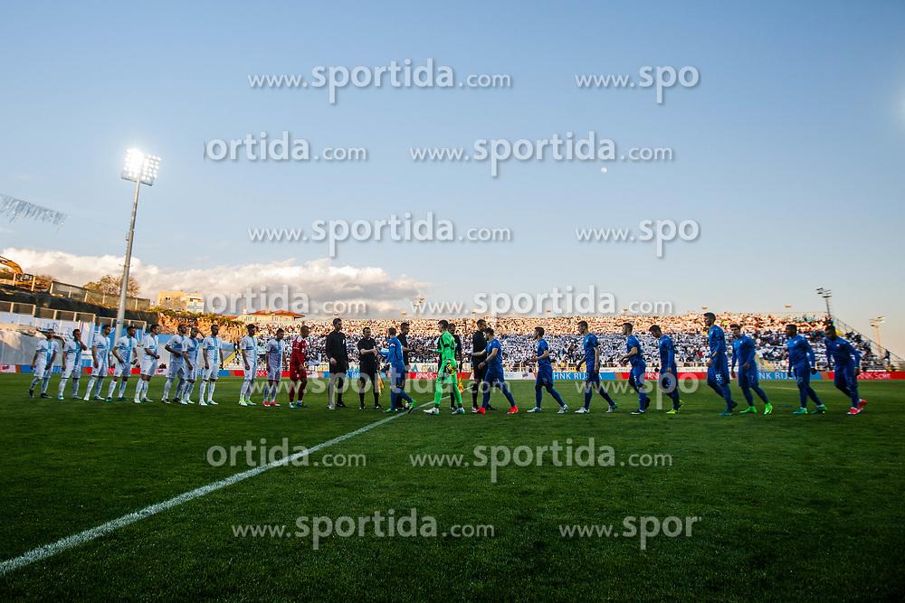 Teams HNK Rijeka and GNK Dinamo before football match between HNK Rijeka and GNK Dinamo Zagreb in Round #27 of 1st HNL League 2016/17, on November 5, 2016 in Rujevica stadium, Rijeka, Croatia. Photo by Grega Valancic / Sportida