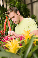 Man with Plants