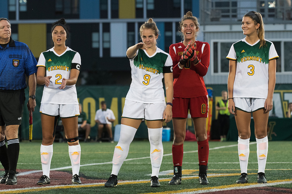 The women's soccer game between the Dartmouth Big Green and the Vermont Catamounts at Virtue Field on Tuesday night September 20, 2016 in Burlington, Vermont.