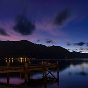 Lake Wanaka at night