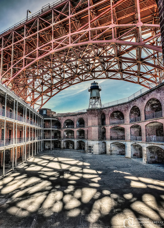 Fort Point is an abandoned brick coastal fortification located at the southern side of the Golden Gate at the entrance to San Francisco Bay.