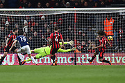 Goal - Jay Rodriguez (19) of West Bromwich Albion scores a goal to give a 0-1 lead to the away team during the Premier League match between Bournemouth and West Bromwich Albion at the Vitality Stadium, Bournemouth, England on 17 March 2018. Picture by Graham Hunt.