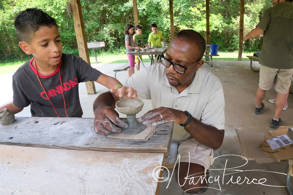 Free activity at Reedy Creek Nature Center   Art of Clay Pinch Pots.  Discover how the pioneers and Native Americans used clay to make pots. We will go through how to process natural clay found here at Reedy Creek and create your own pot to take home.