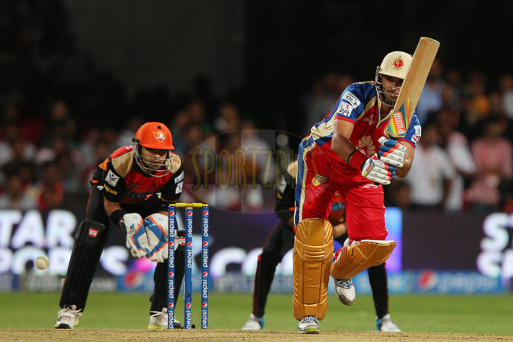 Yuvraj Singh of the Royal Challengers Bangalore during match 24 of the Pepsi Indian Premier League Season 2014 between the Royal Challengers Bangalore and the Sunrisers Hyderabad held at the M. Chinnaswamy Stadium, Bangalore, India on the 4th May  2014<br /> <br /> Photo by Ron Gaunt / IPL / SPORTZPICS<br /> <br /> <br /> <br /> Image use subject to terms and conditions which can be found here:  http://sportzpics.photoshelter.com/gallery/Pepsi-IPL-Image-terms-and-conditions/G00004VW1IVJ.gB0/C0000TScjhBM6ikg