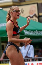 30-06-2000 NED: Beach Masters Tournooi, Apeldoorn<br /> Mered de Vries, Geboren: 25 september 1977, Harich<br /> Lengte: 1,74 m, Gewicht: 64 kg