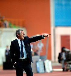 Portugal's head coach Fernando Santos reacts during a friendly soccer match betweem Portugal and Belgium in preparation for Euro 2016 in France at Leiria Municipal Stadium, Portugal, on March 29, 2016. Portugal won 2-1. EXPA Pictures © 2016, PhotoCredit: EXPA/ Photoshot/ Zhang Liyun<br /> <br /> *****ATTENTION - for AUT, SLO, CRO, SRB, BIH, MAZ, SUI only*****