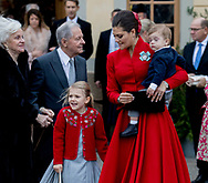 Stockholm, 01-12-2017<br /> <br /> <br /> Christening of Prince Gabriel, son of Prince Carl Philip and Princess Sofia of Sweden.<br /> <br /> <br /> <br /> <br /> Photo: Bernard R&uuml;bsamen Royalportraits Europe