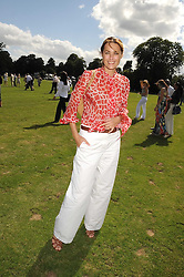 YASMIN LE BON at the IWC Laureus Polo Cup Day 2008 held at Ham Polo Club, Surrey on 22nd June 2008.<br />