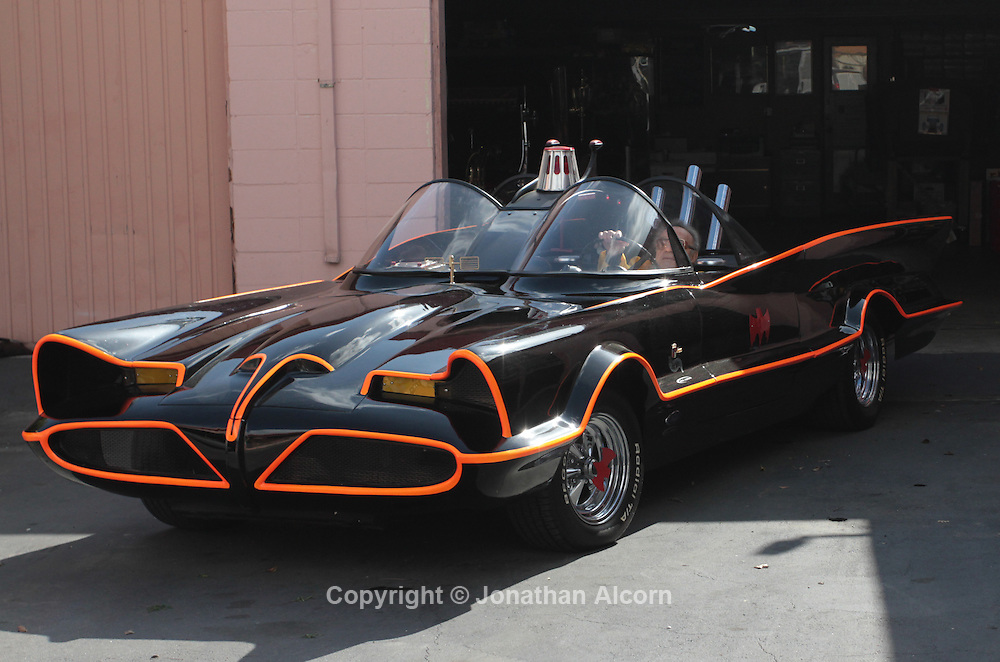The original Batmobile from the televisIon series sits at  Barris Kustom Industries, in North Hollywood, California, U.S., on Tuesday, Mar. 22, 2011. The original Batmobile sold for $4.62 million last night as Batman fans and automobile collectors joined a classic-car auction in Arizona. The owner and creator George Barris had previously vowed never to sell it.