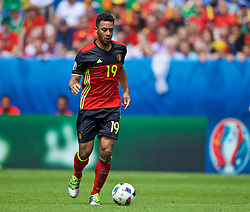 BORDEAUX, FRANCE - Saturday, June 18, 2016: Belgium's Mousa Dembele in action against the Republic of Ireland during the UEFA Euro 2016 Championship Group E match at Stade de Bordeaux. (Pic by Paul Greenwood/Propaganda)
