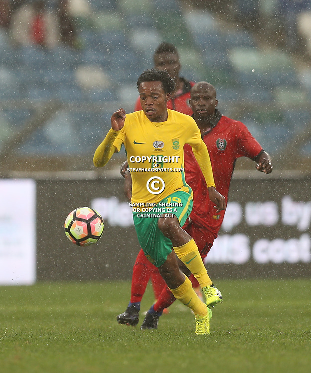 Percy Tau of Bafana Bafana South Africa during the match between Bafana Bafana South Africa and Guinea-Bissau at Moses Mabhida Stadium in Durban South Africa,25 March 2017 (Steve Haag)