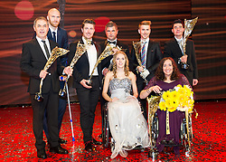 29.10.2015, Austria Center Vienna, Wien, AUT, Lotterien-Gala, Nacht des Sports 2015, im Bild v.l.n.r. Marcel Koller, Robert Almer, Marcel Hirscher, Kira Grünberg, Patrick Mayrhofer, Claudia Lösch und Jochen Hubmann // during Lotterien galanight of sports 2015 at Austria Center in Vienna on 2015/10/29, EXPA Pictures © 2015 PhotoCredit: EXPA/ Michael Gruber
