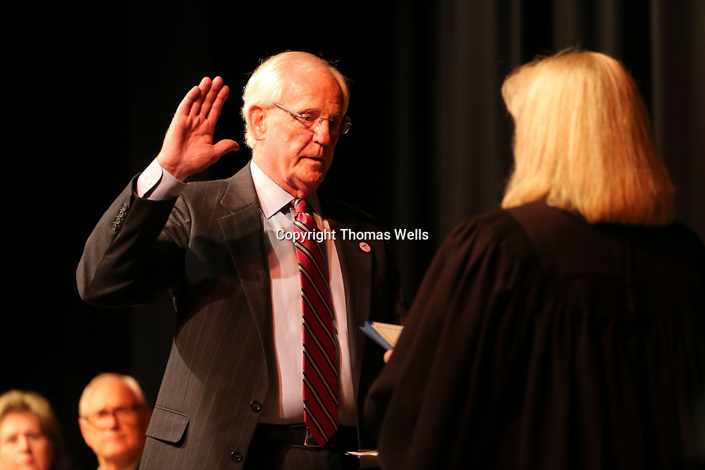 City of Tupelo Ward 1 Councilman Markel Whittington takes the oath for another term and will assume become the President of the City Council.