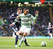 Celtic&rsquo;s Emilio Izaguirre and Dundee's Alex Harris -  Celtic v Dundee - SPFL Premiership at Celtic Park<br /> <br /> <br />  - &copy; David Young - www.davidyoungphoto.co.uk - email: davidyoungphoto@gmail.com
