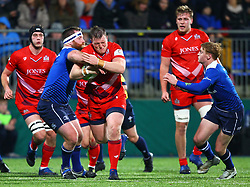 Jack O'Connell of Bristol United in action against Michael Bent of Leinster - Mandatory by-line: Ken Sutton/JMP - 15/12/2017 - RUGBY - Donnybrook Stadium - Dublin,  - Leinster 'A' v Bristol United -