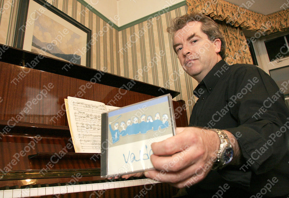 Musical Director of Valda Donagh Wylde who will be joining his choir in a concert in Danlann Theatre on the 10th of December to launch their new CD titiled 'Valda'.<br />