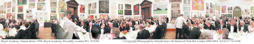 Royal Academy Annual dinner 1998. Royal Academy, Piccadilly, London W1. 27/5/98<br />