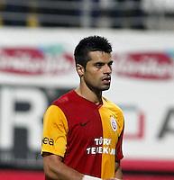 Turkey sportoto superleague soccer match between Antalyaspor and Galatasaray  at  Mardan Stadium in Antalya. 21.10.2011<br /> Match scored: Antalyaspor 0 - Galatasaray 0<br /> Pictured: Gokhan Zan of Galatasaray.