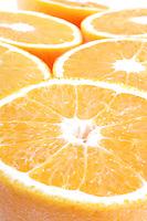 Closeup of sliced oranges - studio shot
