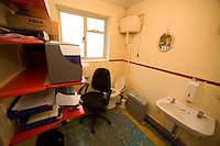 Principal of the national school in Kilimor, Co. Galway, Gerard Murray' Office, Yes that is a toilet and wash basin in it.  Photo:Andrew Downes