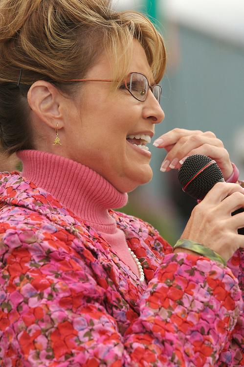 Alaska State Fair, 2007, Palmer, Alaska, Military Family of the Year Award, Governor Sarah Palin