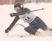 Marian's Katie Thibideau on her second of two slalom runs during the 2010 Division I MHSAA State Ski Finals.
