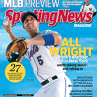 Sporting News cover covers.Tebow.Bradford.Jeter.Alex Rodriguez.Roy Halladay..Photo by Preston C. Mack
