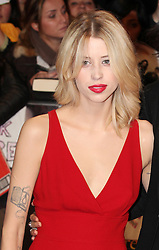 "© Licensed to London News Pictures. London, UK. 07/04/2014. English socialite Peaches Geldof, second daughter of musician Bob Geldof and Paula Yates has died at age 25. Police is treating her death as ""unexplained and sudden"". FILE PICTURE DATED 14/11/2012. Peached Geldof and husband Thomas Cohen attend the premiere on Twilight Breaking Dawn Part 2 in Leicester Square, London.Photo credit : Isabel Infantes /LNP"