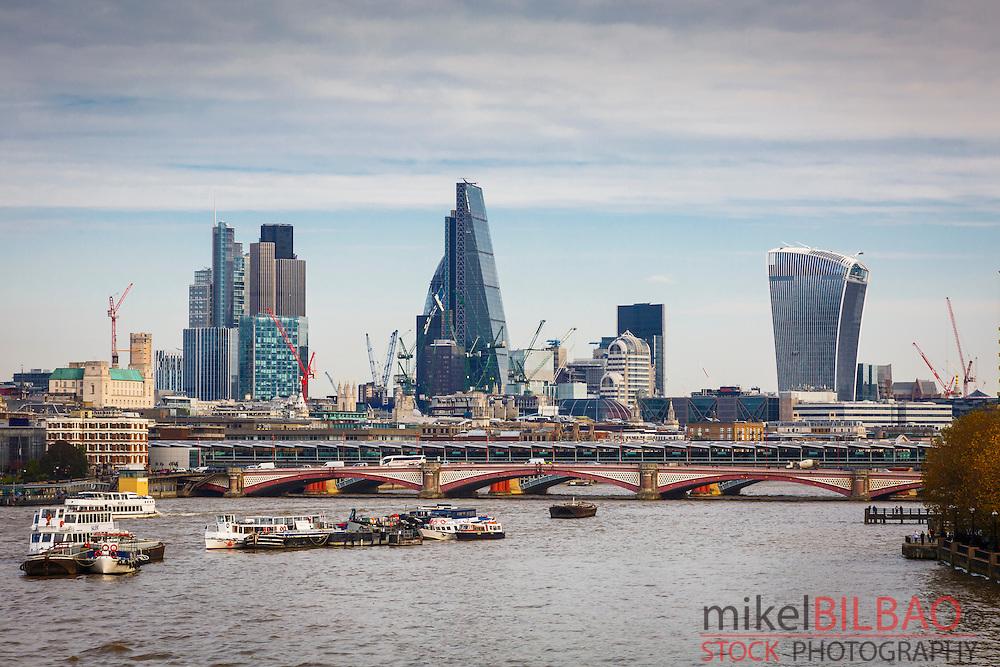 Thames river and City. London, England, United kingdom, Europe.