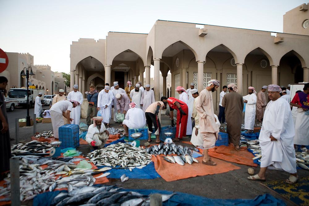 Nizwa, Sultanate of Oman. .February 1st 2009..The fish market of Nizwa.