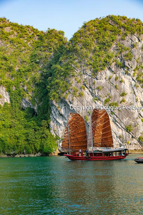 Dark and Bright Lagoon, Halong Bay, Vietnam, Asia