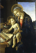 The Madonna of the Book (Virgin and Child).  Sandro Boticelli (1445-1510) Italian painter. Oil on wood.
