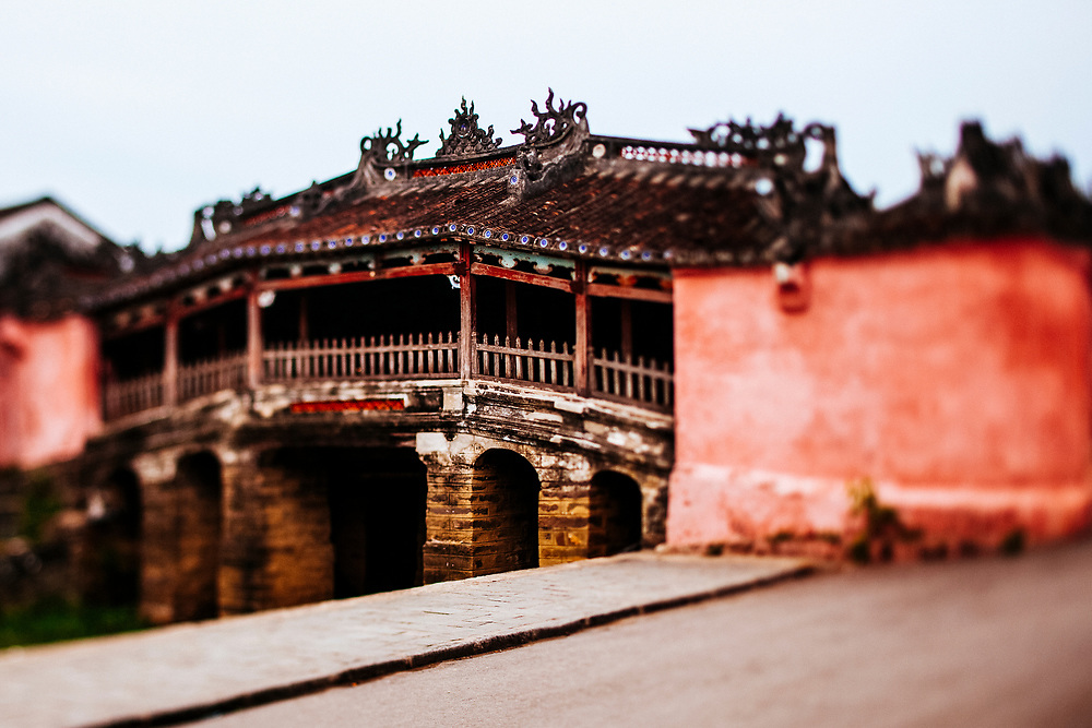 The Japanese covered bridge in downtown Hoi An, Vietnam.