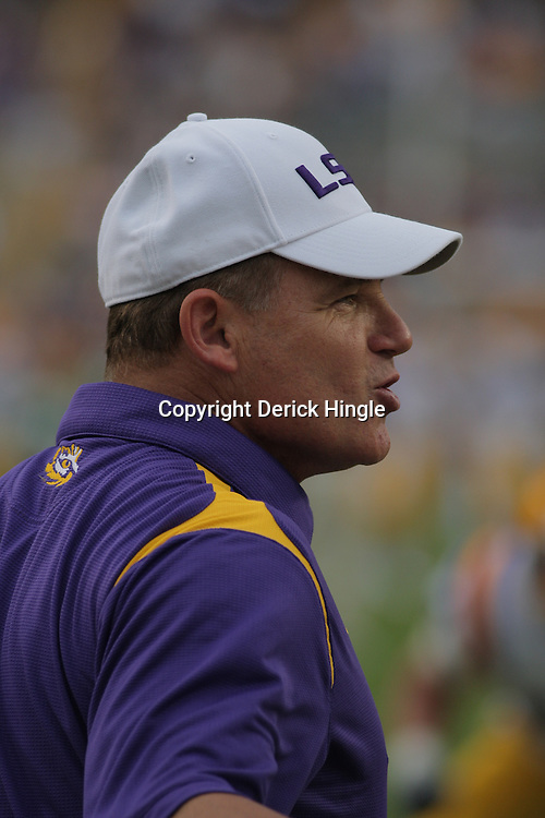 13 September 2008: LSU Head Coach Les Miles on the field prior to the Tigers game against North Texas at Tiger Stadium in Baton Rouge, LA. The LSU Tigers defeated the Mean Green of North Texas 41-3.