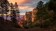 A panoramic view of Angels Window from the North Rim of the Grand Canyon.