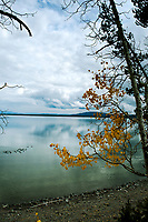A late fall look over Yellowstone Lake in Yellowstone National Park.