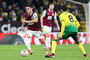 Burnley midfielder Ashley Westwood (18) in possession of the ball during the The FA Cup match between Burnley and Norwich City at Turf Moor, Burnley, England on 25 January 2020.