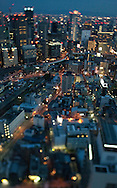TREVOR HAGAN - Osaka skyline seen from the Umeda Sky Building.<br /> August 17, 2008