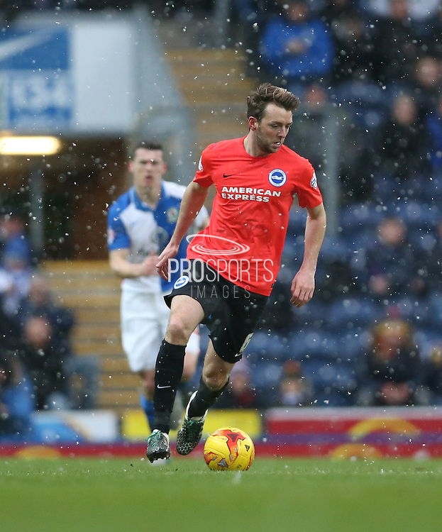Brighton central midfielder, Dale Stephens (6) during the Sky Bet Championship match between Blackburn Rovers and Brighton and Hove Albion at Ewood Park, Blackburn, England on 16 January 2016.