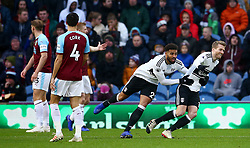 File photo dated 12-01-2019 of Fulham's Andre Schurrle (right) celebrates scoring his side's first goal of the game against Burnley during the Premier League match at Turf Moor, Burnley.
