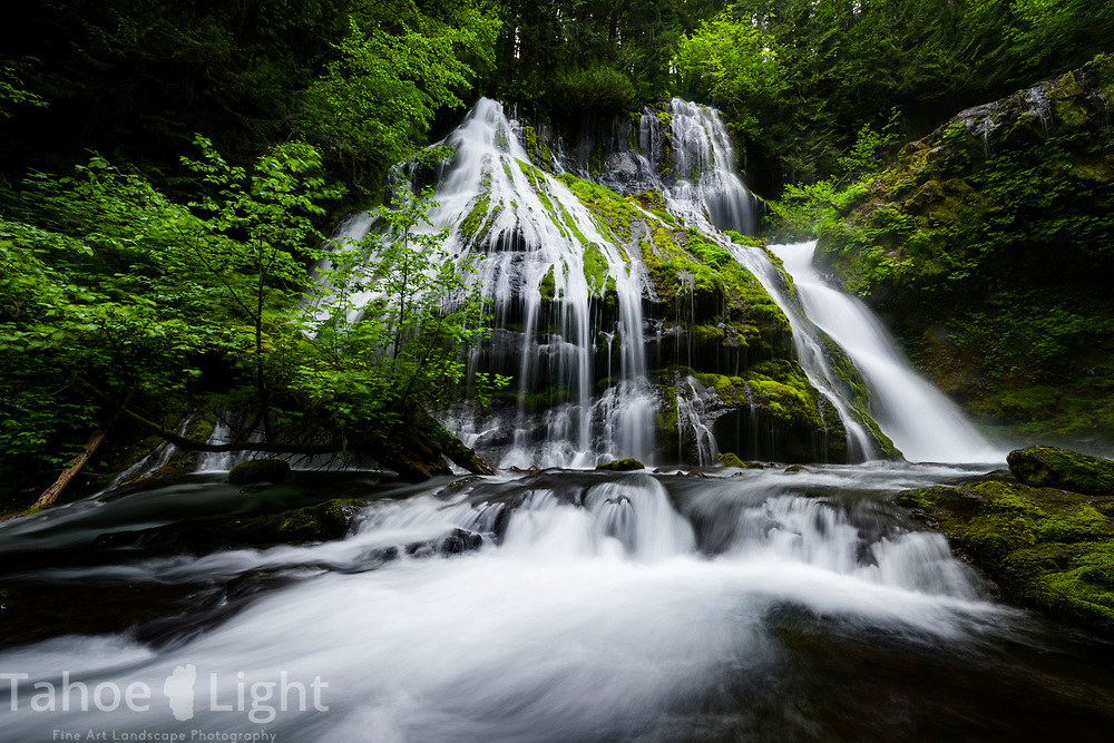 Panther Falls in souther Washington. The lush greenery and waterfalls of the Pacific Northwest are a must visit.