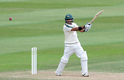 Nottinghamshire's Samit Patel cuts the ball. - Photo mandatory by-line: Harry Trump/JMP - Mobile: 07966 386802 - 16/06/15 - SPORT - CRICKET - LVCC County Championship - Division One - Day Three - Somerset v Nottinghamshire - The County Ground, Taunton, England.