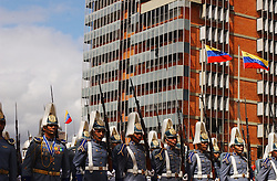 Members of the Venezuelan military take part in a commemorative act on the 220th anniversary of the birth of Simon Bolivar.  In 1999, under the government of Hugo Chavez,  a national referendum  renamed the country  the Bolivarian Republic of Venezuela.