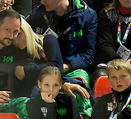 Lillehammer. 12-02-2016<br /> <br /> <br /> Crown Prince Haakon and Crown Princess Mette Marit and their children Ingrid Alexandra and Sverre Magnus attend the opening of the Youth Olympic Games.<br /> <br /> (curling)<br /> <br /> Royalportraits Europe/Bernard Ruebsamen