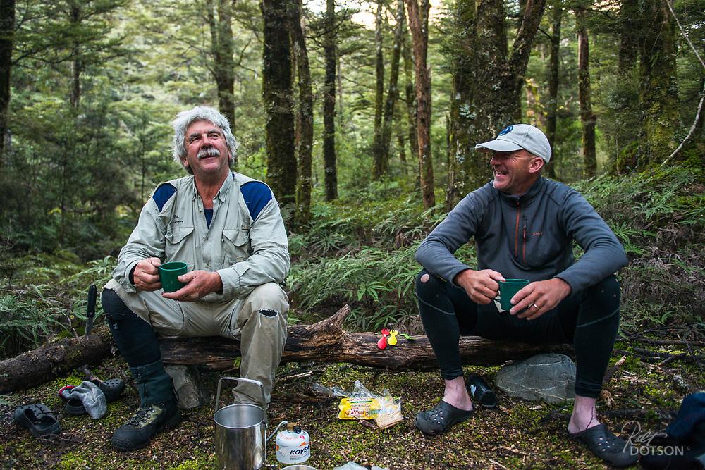 Wilderness Zone, Rangitikei River, NZ 2014 Campsite eveing of day 4