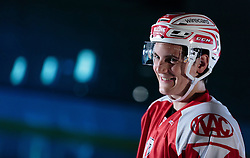 10.08.2015, Red Bull Akademie Liefering, Salzburg, AUT, EBEL, Medien Tag, im Bild Manuel Ganahl (EC KAC) // during the Erste Bank Icehockey League Media Day at the Red Bull Football and Icehockey Academy Liefering in Salzburg, Austria on 2015/08/10. EXPA Pictures © 2015, PhotoCredit: EXPA/ JFK