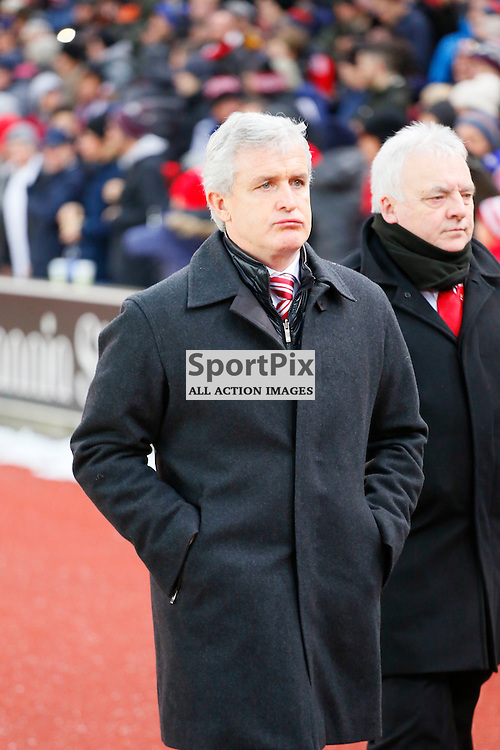 Mark Hughes during Stoke City v Arsenal, Barclays Premier League, Sunday 17th January 2016, Britannia Stadium, Stoke