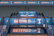 The Tunnel at the National Stadium carries the Sponsors Branding ahead of the Betfred Scottish League Cup Final match between Rangers and Celtic at Hampden Park, Glasgow, United Kingdom on 8 December 2019.