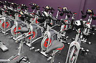 Monroe, New York - Exercise bikes at the South Orange Family YMCA on Friday, Feb. 4, 2011. / The Image Works