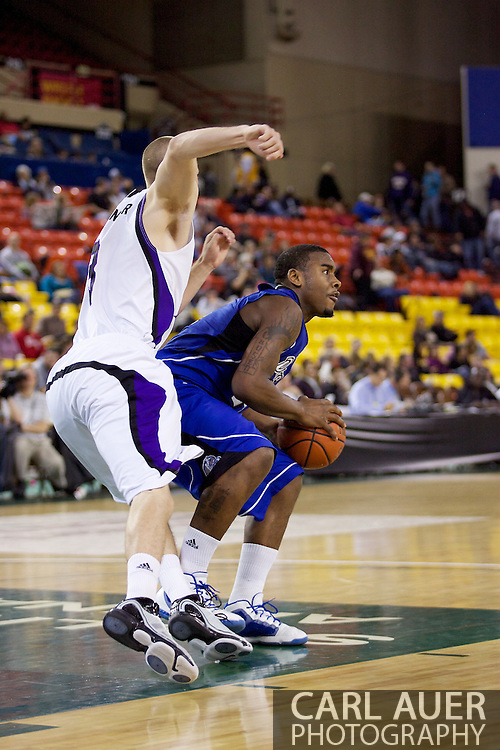 November 27th, 2010:  Anchorage, Alaska - Drake Bulldog Rayvonte Rice (24) looks for a pass in the Bulldog 81-82 loss to Weber State in the third place game of the Great Alaska Shootout.